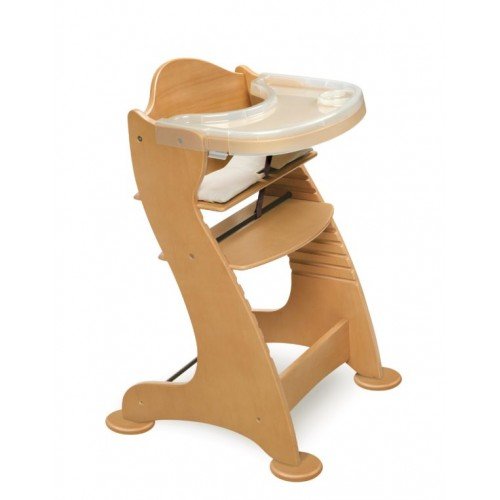 Embassy Adjustable Wood High Chair – Natural