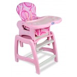 Envee Baby High Chair with Playtable Conversion – Pink/White