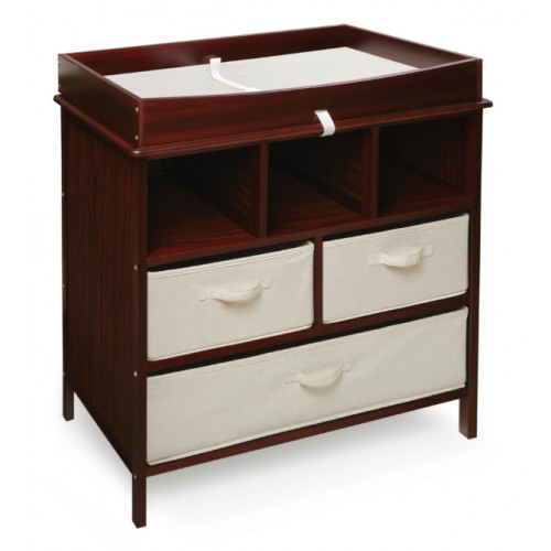 Estate Baby Changing Table with Three Baskets – Cherry