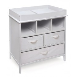 Estate Baby Changing Table with Three Baskets – White