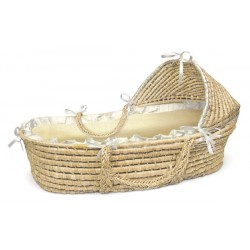 Liner and Sheet Only for Standard Maize Moses Baskets – Beige Gingham