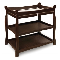 Sleigh Style Baby Changing Table – Espresso
