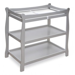 Sleigh Style Baby Changing Table – Gray
