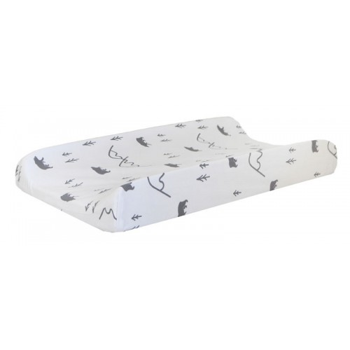 Black and White Changing Pad Cover | Little Black Bear Collection