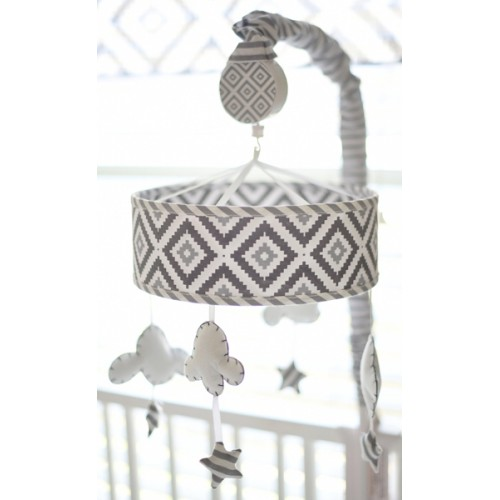 Cloud and Stars Baby Nursery Mobile   Imagine Crib Bedding Collection