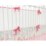 Coral and White Crib Bumper | Mix and Match Collection