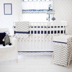 Gray and Navy Polka Dot Crib Sheet | Out of The Blue Crib Collection