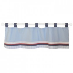 Red and Blue Nautical Nursery Curtain Valance | First Mate Crib Collection