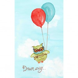 """Dream Away"" Baby Owl Wall Art"