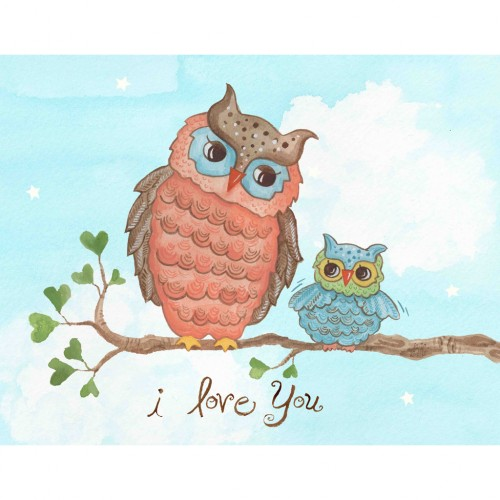 """I Love You"" Baby Owl Wall Art"